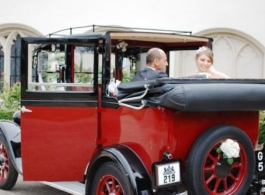 1933 vintage Austin Taxi for weddings in Esher